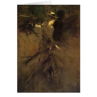 Giovanni Boldini- In the Promenade Card