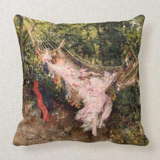 "Giovanni Boldini's ""The Hammock"" Throw Pillow"