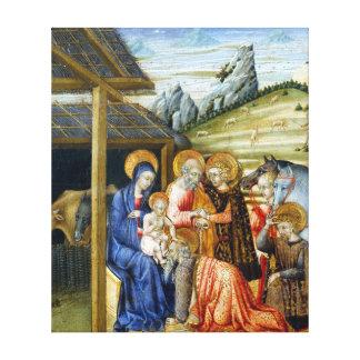 Giovanni di Paolo The Adoration of the Magi Canvas Print