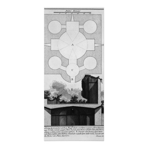 Giovanni Piranesi-Cross-section of large urn Custom Rack Card