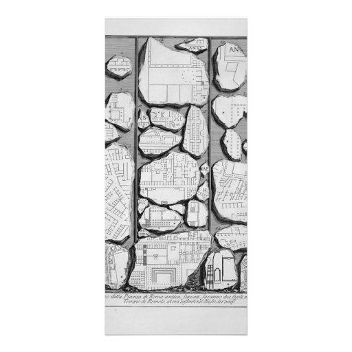 Giovanni Piranesi-Map of ancient Rome&Forma Urbis Custom Rack Cards
