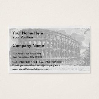 Giovanni Piranesi- View of Flavian Amphitheatre Business Card
