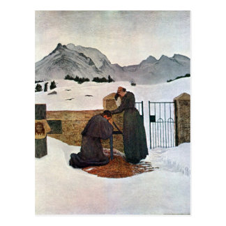 Giovanni Segantini - The pain of mourning Postcard
