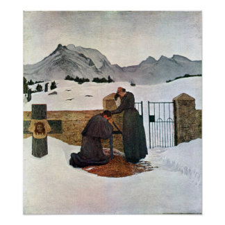 Giovanni Segantini - The pain of mourning Poster