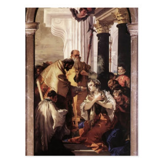 Giovanni Tiepolo- Last Communion of St Lucy Postcard