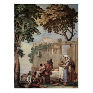 Giovanni Tiepolo:Peasant Family at Table Postcard