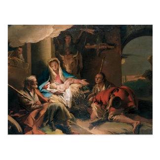 Giovanni Tiepolo- The Adoration of the Shepherds Postcard