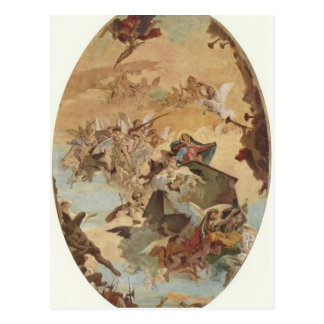 Giovanni Tiepolo:Transportation of the Holy House Postcard