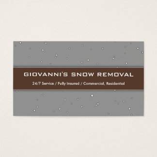 """Giovanni's Snow Removal"" Business Card"