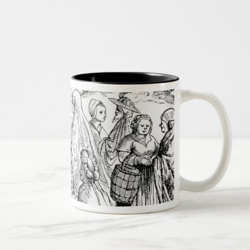 Gipsies fortune telling, after a woodcut in 'Cosmo Coffee Mugs