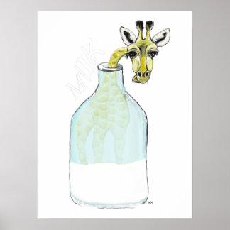 Giraf Milk Poster