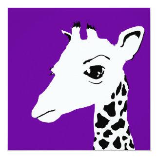 girafe de bruit : couleur personnalisable carton d'invitation  13,33 cm