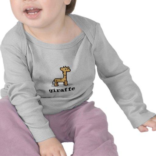 Girafe de pixel t-shirt