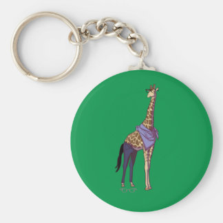 Girafe Keychain de hippie sans texte