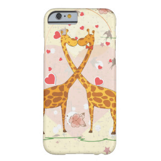 Girafes dans l'amour coque iPhone 6 barely there