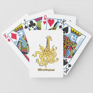 giraffapus bicycle playing cards
