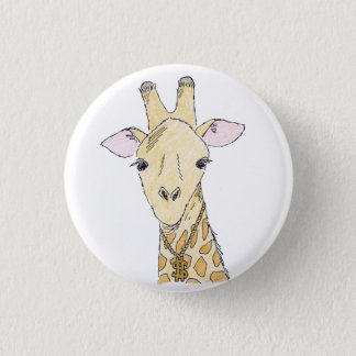 giraffe 1 inch round button