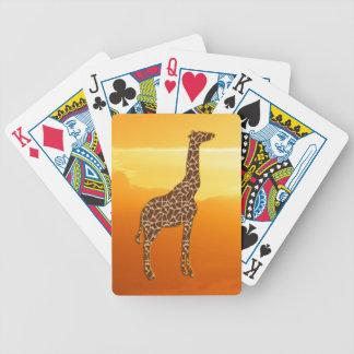 Giraffe 2 bicycle playing cards