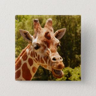 Giraffe 2 Inch Square Button