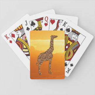 Giraffe 2 playing cards