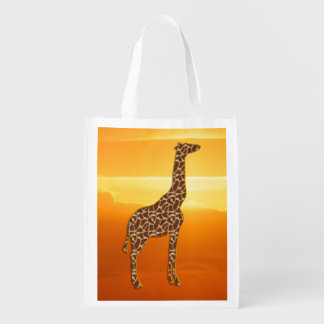 Giraffe 2 reusable grocery bag