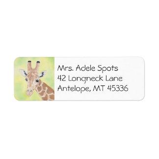 Giraffe address label