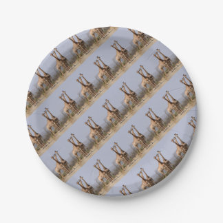 Giraffe Africa Personalize Destiny Destiny'S Paper Plate