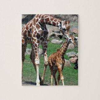 Giraffe Africa Safari Animal Personalize Giraffes Jigsaw Puzzle