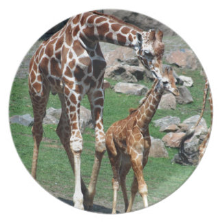 Giraffe Africa Safari Animal Personalize Giraffes Plate