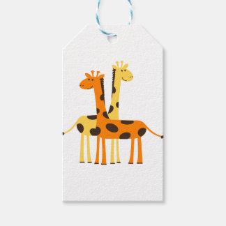 giraffe africa safari wildlife gift tags
