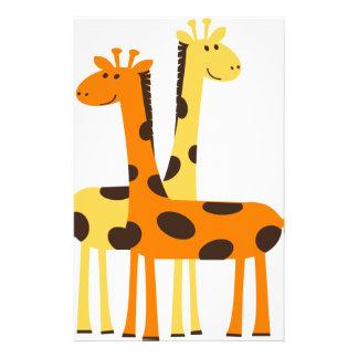 giraffe africa safari wildlife stationery