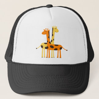 giraffe africa safari wildlife trucker hat