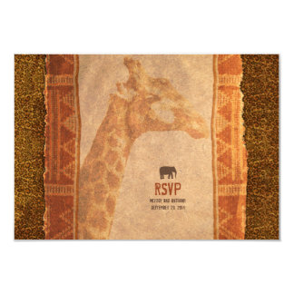 Giraffe African Safari Wedding RSVP Reply Card Personalized Invitations