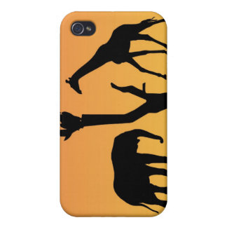Giraffe african sunset silhouette iphone 4 case