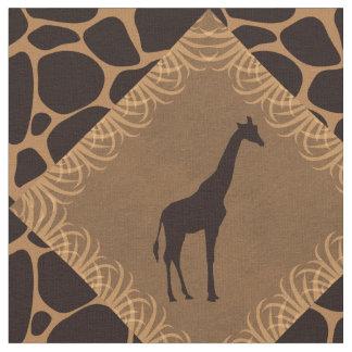 Giraffe and Animal Print Diamond Pattern. Fabric