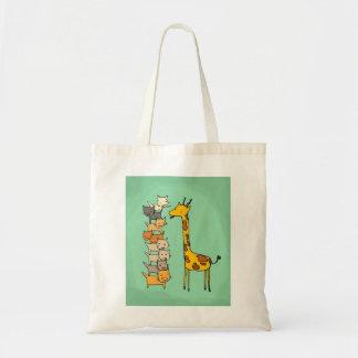 Giraffe and Cats