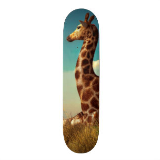 Giraffe and Distant Mountain Skate Board Decks