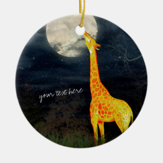 Giraffe and Moon   Custom Ornament Decoration