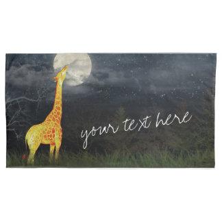 Giraffe and Moon | Custom Pair of Pillowcases