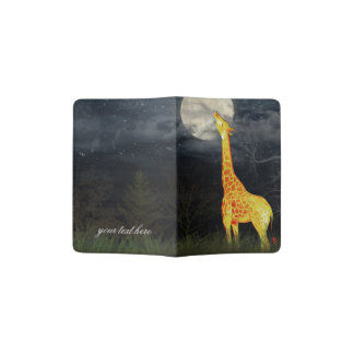 Giraffe and Moon | Custom Passport Holder / Cover