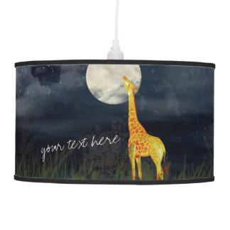 Giraffe and Moon | Custom Pendant Lamp Table Lamp