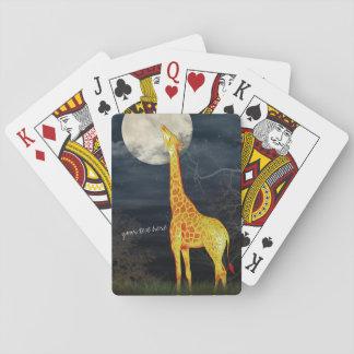 Giraffe and Moon | Custom poker playing cards
