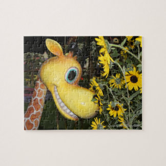 Giraffe and the Daisies Jigsaw Puzzle