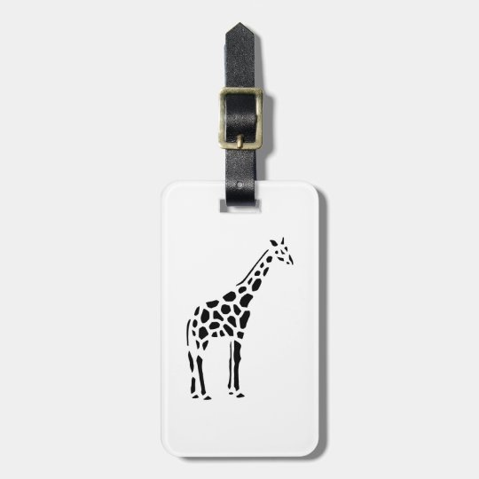 Giraffe animal cartoon luggage tag