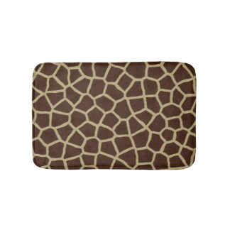 Giraffe Animal Print Brown Bath Mat