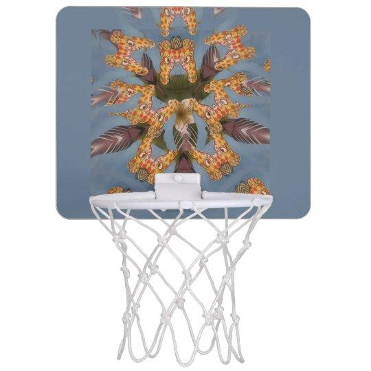 Giraffe animal print design mini basketball backboard