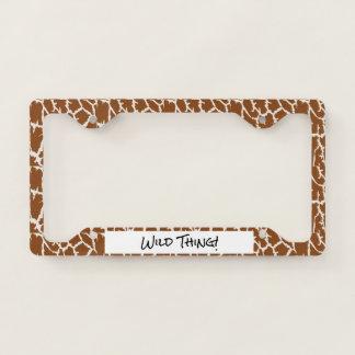 Giraffe Animal Print License Plate Frame