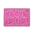 Giraffe Animal Print Pink Magenta Design Trifold Wallet