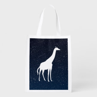 Giraffe Animals Minimal Reusable Grocery Bag