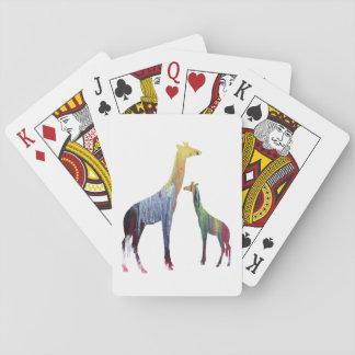 Giraffe Art Playing Cards